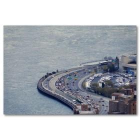 Αφίσα (δρόμος, δρόμος, θάλασσα, αυτοκίνητα)